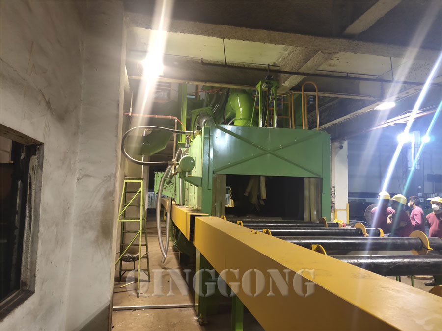 steel structure shot blasting machine 1
