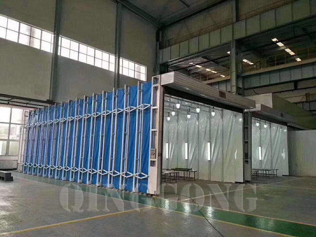 Retractable spray booth 1